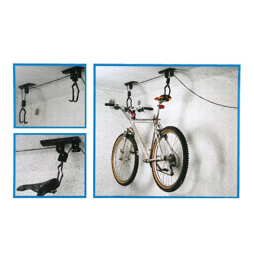 bike bicycle lift ceiling mounted hoist storage garage iron bike