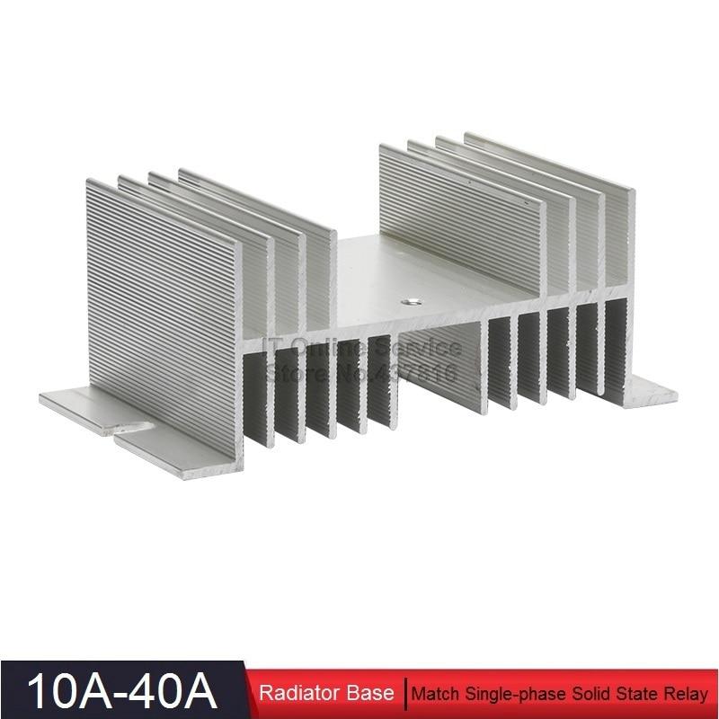 High Quality 10A-40A Solid State Relay Heatsink Base SSR Radiator Base 10A 20A 40A 1pcs free shipping ssr soild state relay radiator radiator fin other spare parts mini
