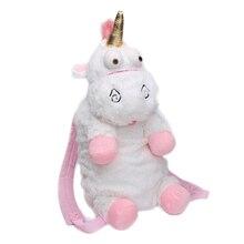 HOT 2017 Nydesignet Fashion Pink Plush Unicorn Rygsæk Dejlig Schoolgirl's Bag Enestående Shopping Tasker Fødselsdagsgave
