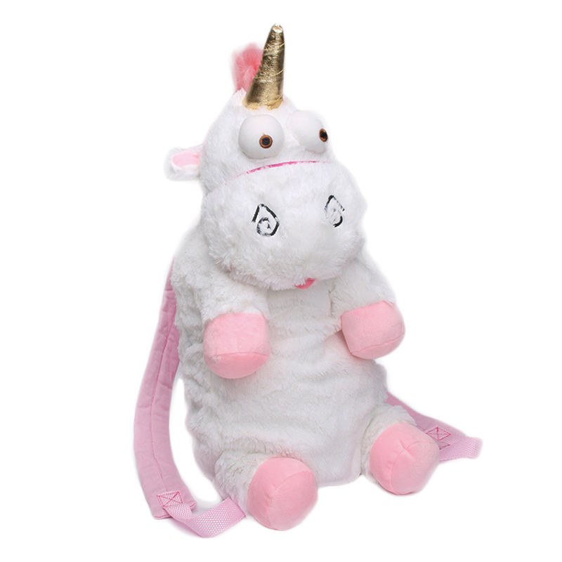 Hot New Designed Fashion Pink Plush  Backpack Lovely Schoolgirl's Bag Conspicuous Shopping Bags Birthday Present