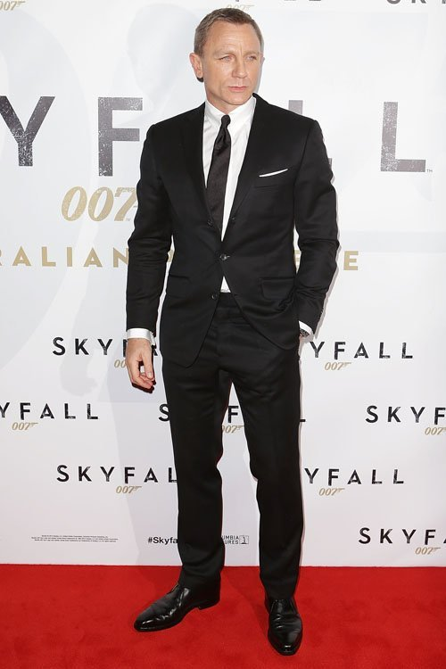 007 James Bond Kleid Filmstar Daniel Craig Rot Carpenter Slim Fit ...