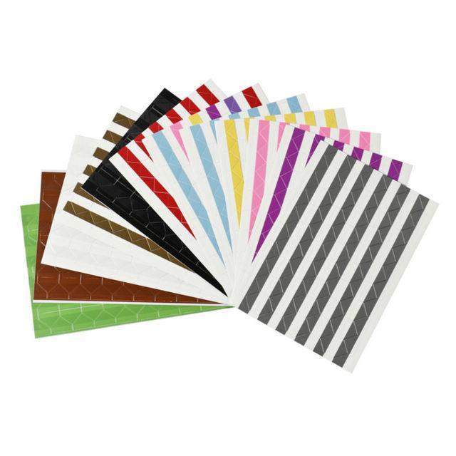 3 sheets scrapbooking photo corner colourful corners sticker paper
