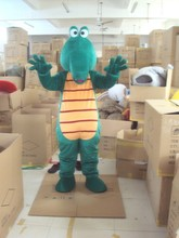 High quality Crocodile Alligator Mascot Costume Adult Size Fancy Dress Suit