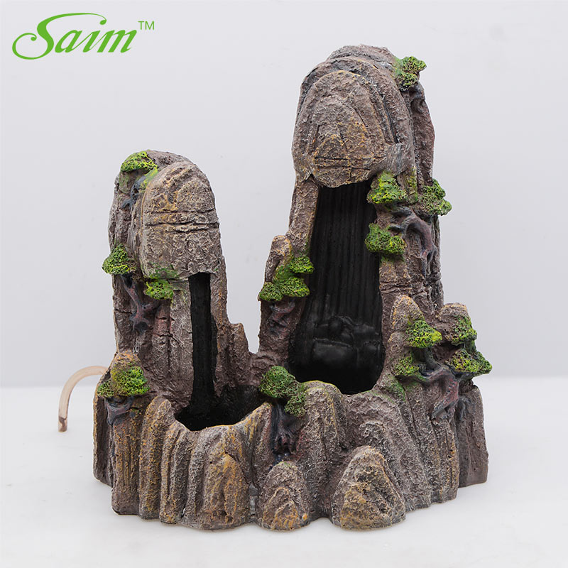 Saim PET Decorative Rocks Landscape Rockery Ornaments Aquarium Decoration Fish Tank Cave Stone Rockery Accessories Large