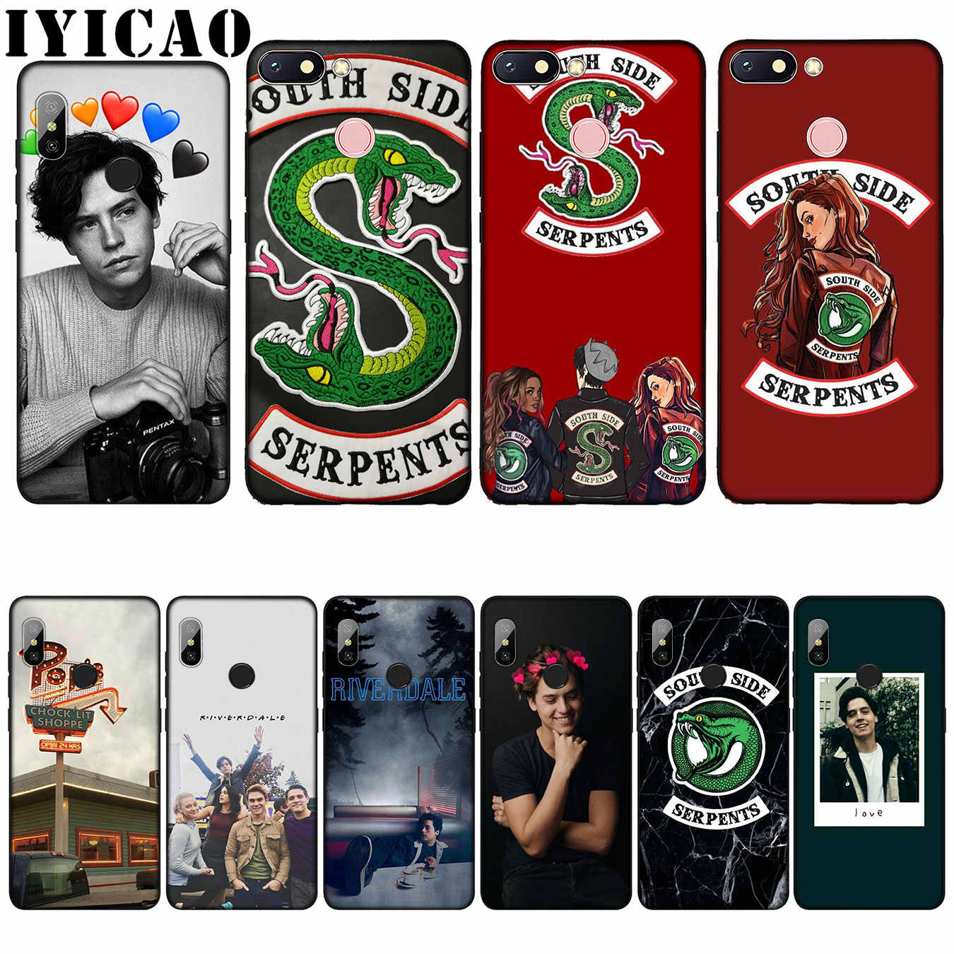 IYICAO Riverdale South Side Snake Cover love Silicone Soft Case for Xiaomi Redmi 6A 5A Note 7 4 4X 5 Plus 6 Pro Black TPU Cover