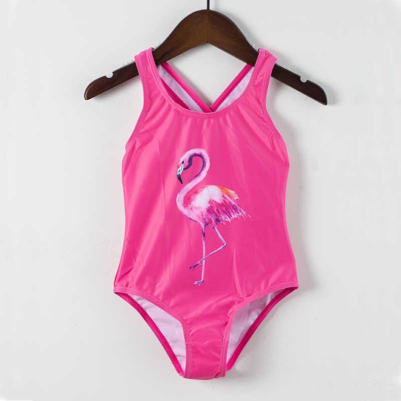 184e4a543c7 ... 2019 Girls Swimwear Lovely Beach Wear Printed Cartoon Swimming Suits One -Piece Unicorn Swimwear Girl