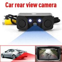 10pcs Lot Via DHL Car Parking Sensor 3 In 1 Rear View Camera With 2 Buzzer