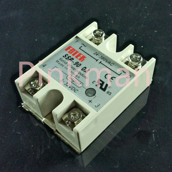 1 pc FOTEK 90DA Solid State Relay  SSR  Single Phase DC-AC normally open single phase solid state relay ssr mgr 1 d48120 120a control dc ac 24 480v