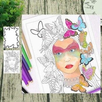 Papel de decoración para Álbum de tarjetas de Scrapbooking DIY sellos y troqueles de Metal para mujer mariposa
