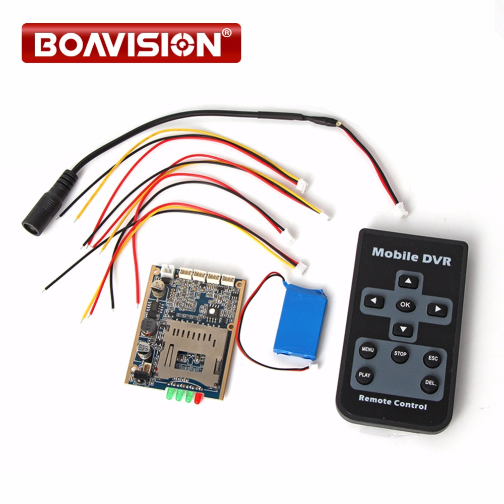 1CH Mini HD XBOX DVR PCB Board Up D1 30fps Support 32GB SD Card Security Digital For Model Aircraft Video Recorder With Battery customized 1 channel mini sd recorder main board dvr module odm offer micro dvr board