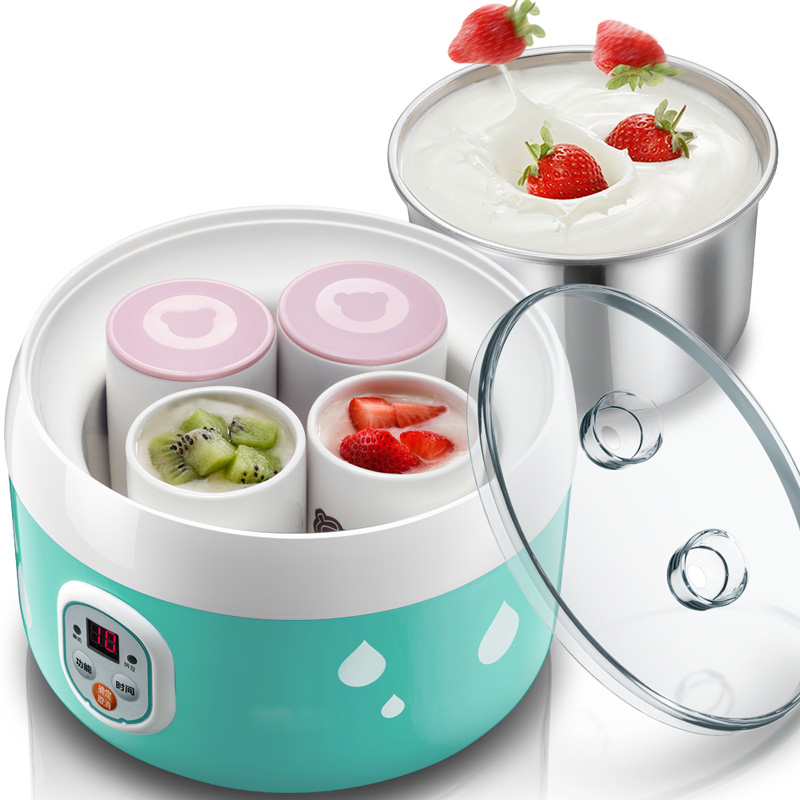 все цены на DMWD 1L Smart Automatic Electric Yogurt Maker Natto Rice Wine Machine With 4 Ceramic Cups Kithchen Appliance 220-240V