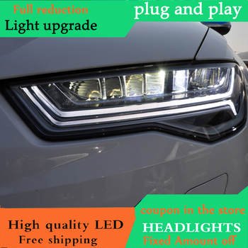 DY_L Cars Styling Head lamp For Audi A6 Headlights Full LED DRL Projector Headlights Auto levels All LED Daytime Running Light