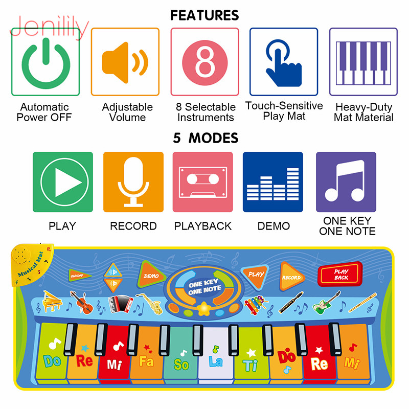 Mat Keyboard-Piano Play-Mat Educational-Toys Musical-Instruments Gift Baby Kids Children