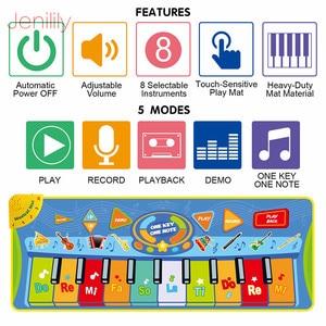 Image 3 - 3 סוגים תכליתי מוזיקליים מחצלת מקלדת פסנתר תינוק לשחק מחצלת חינוכיים לילדים לילדים מתנה
