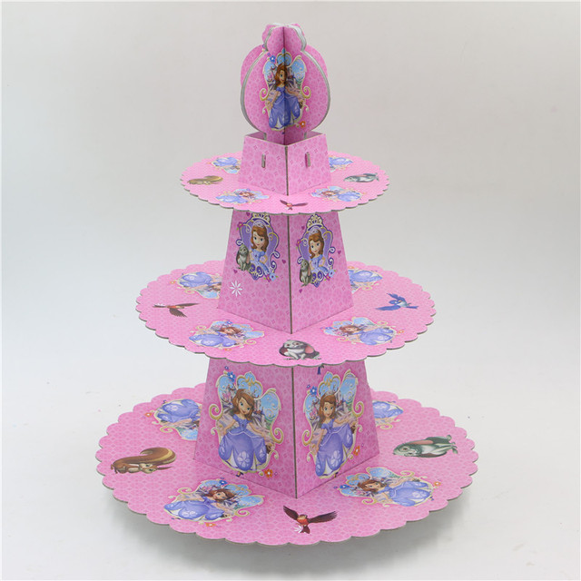 Sofia theme princess Cupcake holder cartoon baby shower cupcake stand cake decorating tools