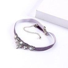 Joolim Jewelry Wholesale Gray Pink Velvet Choker Necklace Statement