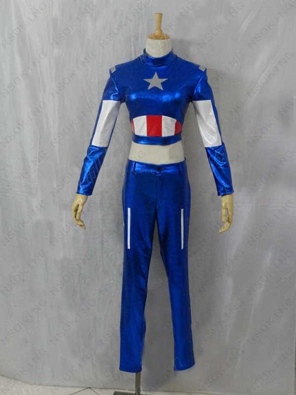 The Avengers Captain America coaplsy Women Costume custom made