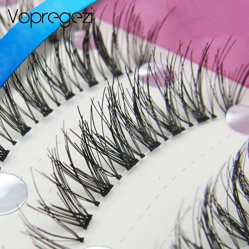 Vopregezi 10pair Crisscross 3D Mink Lashes Makeup Faux Cils Natural Eyelash Extension Tools Long Cross False Eyelashes Wimpern