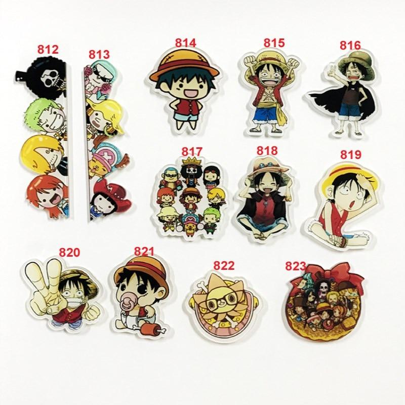 1 Pc Cartoon One Piece Monkey D Luffy Acrylic Brooch Badge