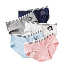 Floral Underwear Briefs Girls Pants Short Teenage Lace for Kids 9-20Y 3pc/Lot Candy-Colors