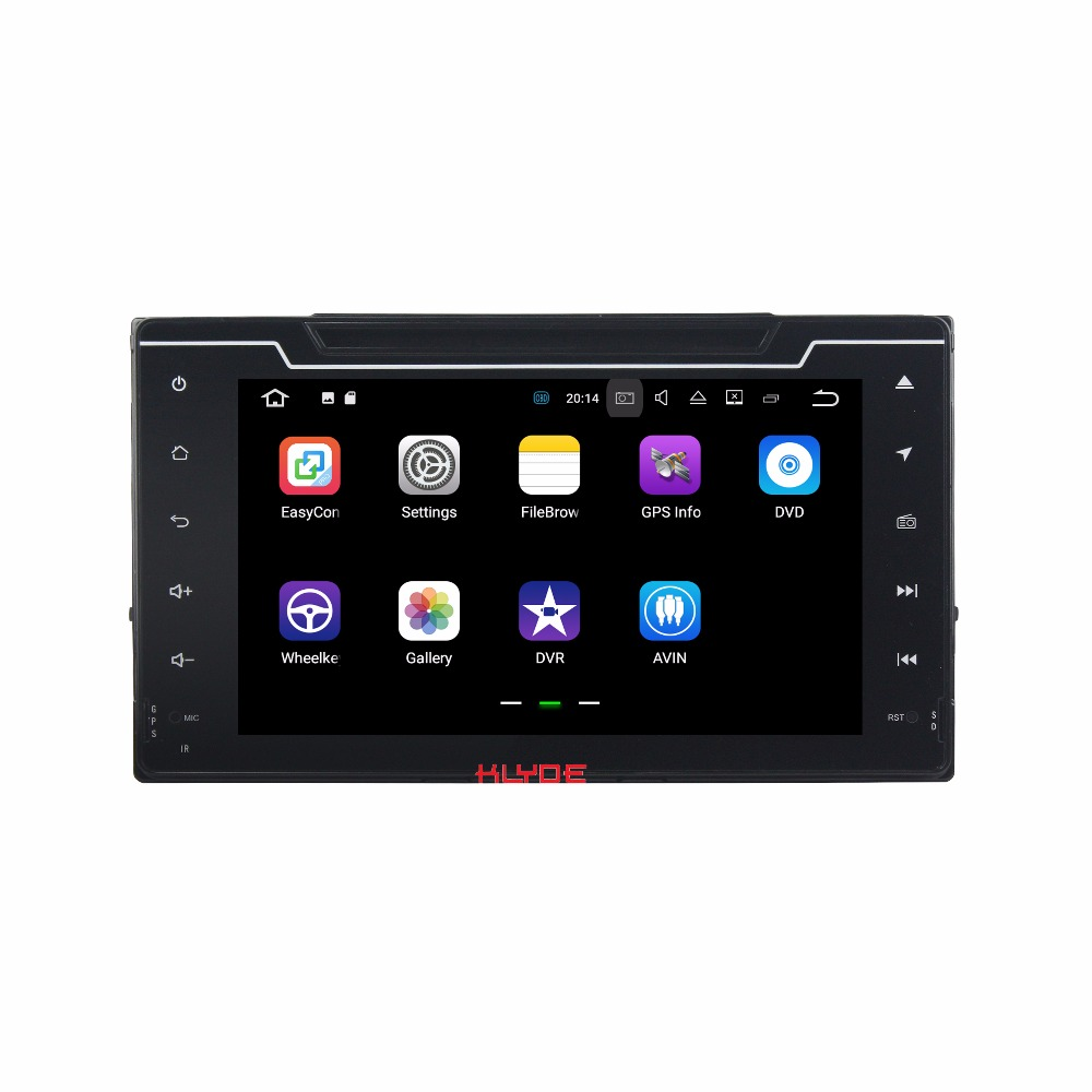 KLYDE 2 Din 8 Android 7 1 font b Car b font Multimedia Player For Toyota