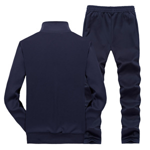 Image 2 - Amberheard 2020ファッション春秋のメンズスポーツスーツジャケット + パンツスポーツウェア2点セットのための服プラスサイズ