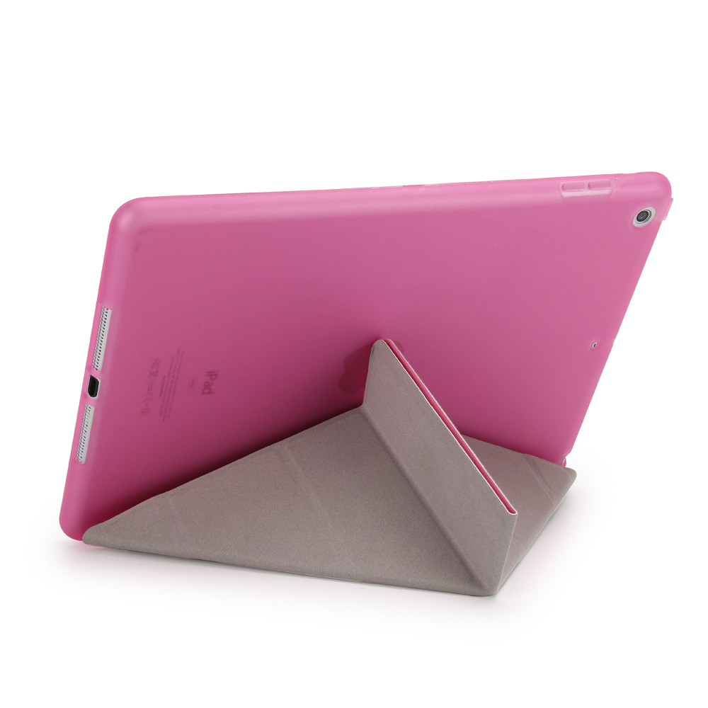 Case For Ipad Air (2013) PU Leather + TPU Rear Cover Smart Auto Sleep Wake Tablet Case For Ipad Air : A1474`A1475`A1476 Cover