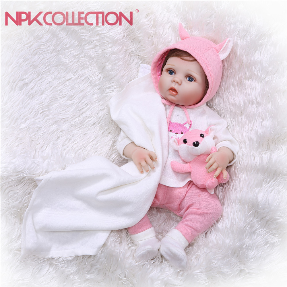 NPKCOLLECTION Reborn Baby Doll Princess Girl Dolls 55CM full body Soft Silicone Babies Girls Lifelike Newborn dolls bebe bonecas