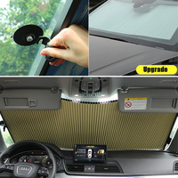 56CM/65CM Upgarde Retractbale honeycomb SUV Truck Car Front Windshield Sunshade Rear Window Sun Visor UV Protection Curtain