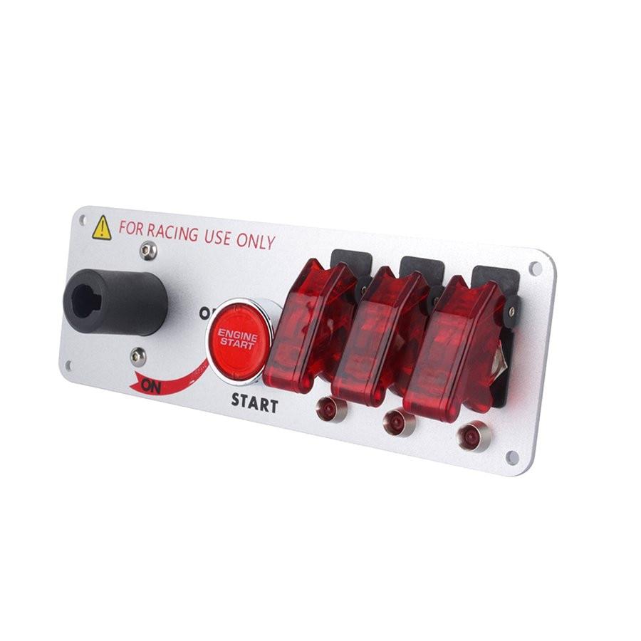Flip-up de Début D'allumage Groupe Bouton DIY Commutateur de Modification de Voiture pour Racing Sport Automobile Compétitive avec LED Rouge indicateur