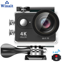 Winait 4k 25fps WIFI Waterproof digital video camera with 2.0'' TFT display/170 degree wide angle/rechargeable lithium battery