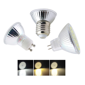Led Lamp E27 / GU10 / MR16 Glass Body Bombillas Leds AC220V 230V Spot Light 8W 6W 4W Power 34 56 72 Led Bulbs Home Lighting