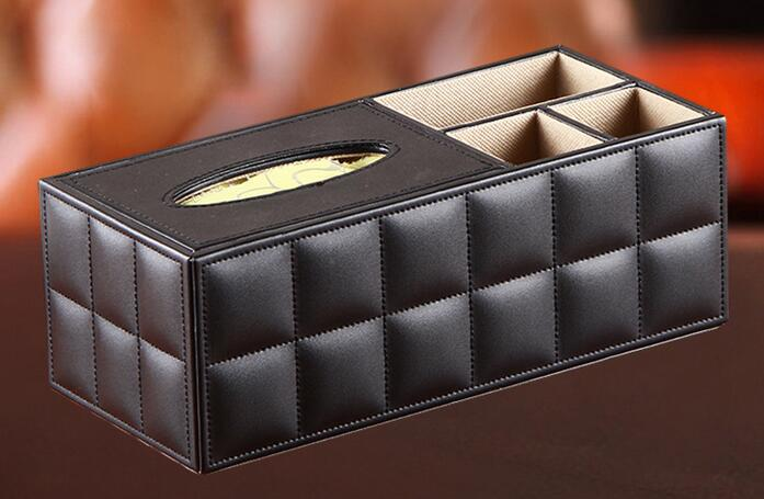 PU Leather Multifunctional Desktop Remote Control Storage Box Fashion  Coffee Table Box Tissue Pumping Box In Storage Boxes U0026 Bins From Home U0026  Garden On ...