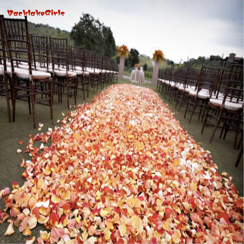 Newest 2018 New Wholesale 1000pcs/lot Atificial Flowers Polyester Wedding Decorations Wedding Rose Petals Patal Flower