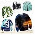 Молодежь популярным высокого качества бейсбол одежда бейсбол 3D лес отдел печати Хип-Хоп одежды свитер 12-18 лет