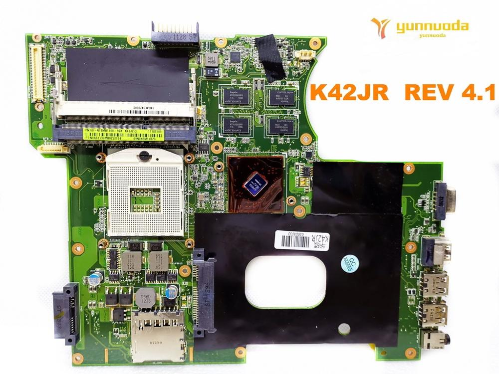 Original For ASUS K42JR  Laptop Motherboard K42JR  REV 4.1  Tested Good Free Shipping
