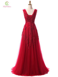 Ssyfashion Prom-Dress Beading Evening-Dresses Lace Robe-De-Soiree Backless Banquet Party