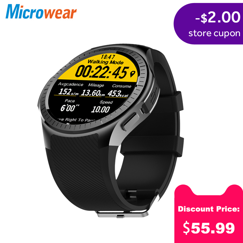 Microwear L1 Professional Sport Smart Watch Quad Core Smartwatch MTK2503 2G Wifi BT Call 0.3MP TF Card For Android IOS Phone MenMicrowear L1 Professional Sport Smart Watch Quad Core Smartwatch MTK2503 2G Wifi BT Call 0.3MP TF Card For Android IOS Phone Men