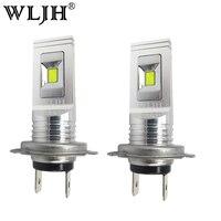 WLJH 2pcs 80W 1500lm H7 LED Fog Light Bulb Car Styling Motor Truck Van DRL Day
