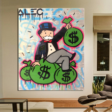 Alec Monopoly Wall Art Canvas Poster And Prints Painting Decorative Picture For Office Living Room Home Decor Accessories