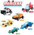 Retail populares creativo juguetes laq cars building blocks mini racer serie divertidos juguetes educativos brinquedos meninas educativo