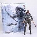 A Figura de Ação Tomb Raider Lara Croft Jogue Arts Kai Brinquedos PVC 270mm Filme Anime Brinquedos Rise of The Playarts Tomb Raider Lara