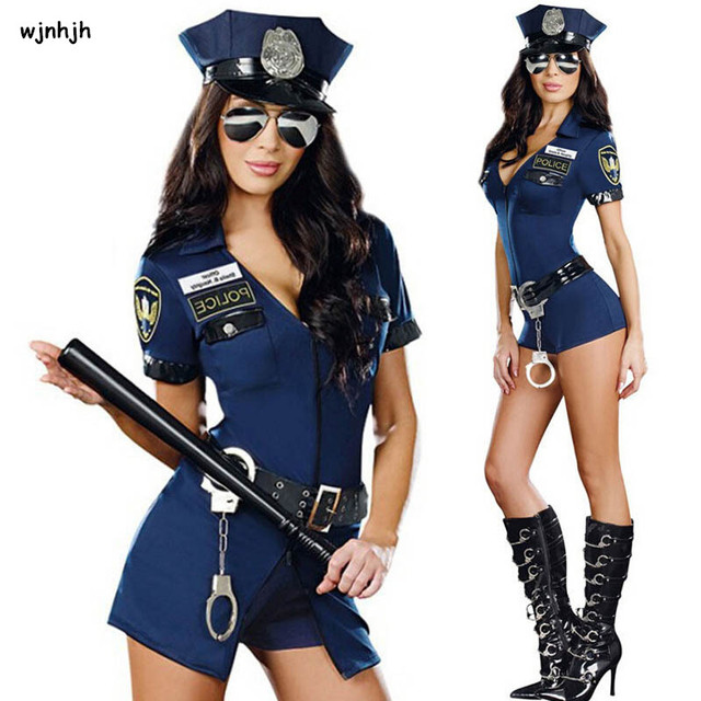 2017 Sexy Police Officer Costume Uniform Halloween Adult -3059