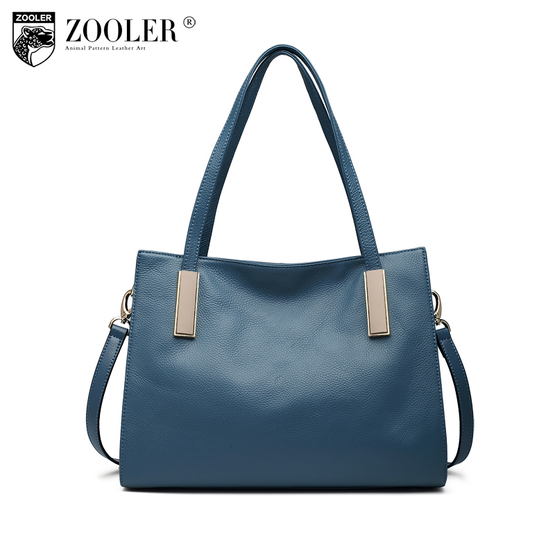 ZOOLER Brand Genuine Leather bag woman leather handbags Luxury Designer Women Bags classic & elegant tote Designer V103