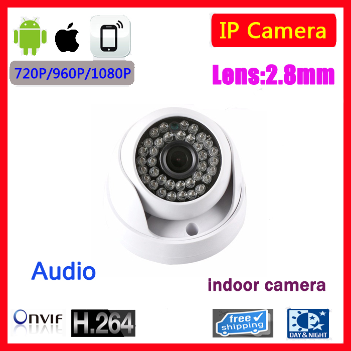 Ultral Low Illumination SONY IMX222 Full HD Indoor Dome Camera Audio Microphone IP Camera Audio ONVIF IR Cut hkes wholesale 8pcs lot free shipping indoor ir dome ip camera with microphone