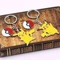 2 tipos de figura de acción de Pokemon Pikachu Llavero y Pokeball Hadas joyería del bolsillo de dibujos animados Llavero llavero