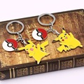 2 types Pokemon Keychain Pikachu&Pokeball action figure Fairy Keychain cartoon jewelry pocket keychain