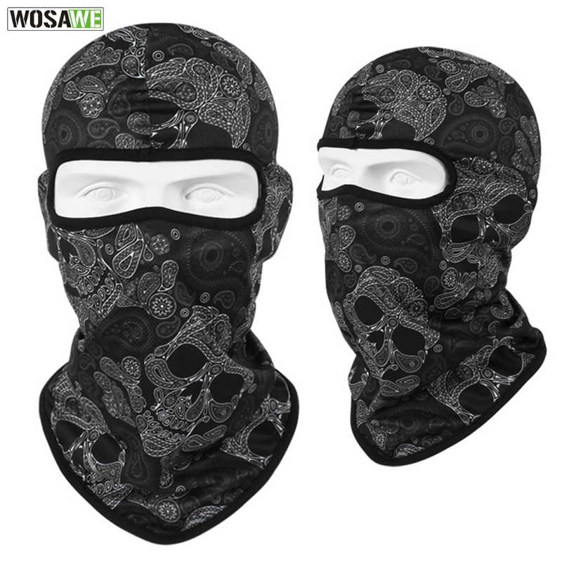 Image 3 - WOSAWE Motorcycle Full Face Mask Sun Protection MOTO Motocross Bandana Motorbike Racing Face Shield mtb Bicycle Balaclava Scarf-in Motorcycle Face Mask from Automobiles & Motorcycles