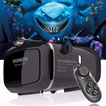 Горячая VR Shinecon bluetooth-очки виртуальный реальность 3D очки гарнитура для Iphone samsung VR Bo 4,0-6,0 дюймов телефон Google Cardboard 2,0 >> OG intelligence Store