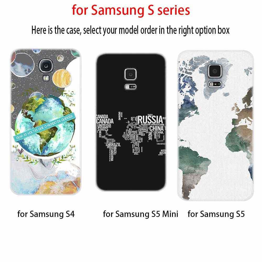 Silicone Mềm Dành Cho Samsung S20 S11 S10 S9 S8 Plus Lite 11e 10e S7 S6 Plus 5G S10e bản Đồ Thế Giới Du Lịch Kế Hoạch